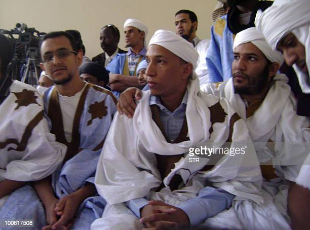 This photo taken on an unspecified date shows Sidi Ould Sidna attending a religious meeting at the civil prison in Nouakchott A Mauritanian court...