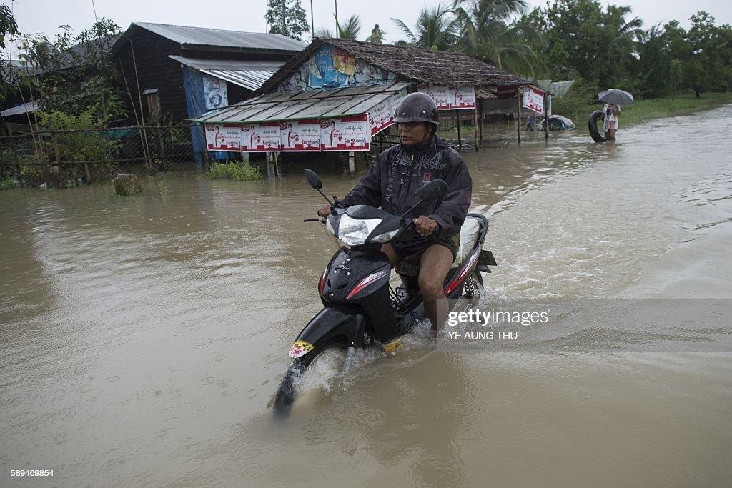 MYANMAR-WEATHER-FLOOD : News Photo