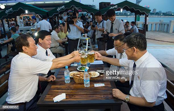 This photo taken on August 12 2016 shows Choe Yong Nam director of the General Bureau of Public Service who doubles as chairman of the preparatory...