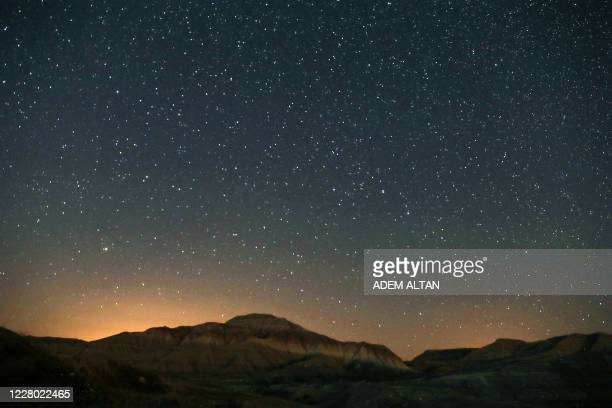 This photo taken on August 12 shows a starry sky at Nallihan district, in Ankara.