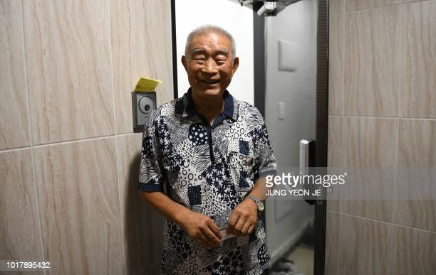 This photo taken on August 15 2018 shows Kim Kwangho one of a handful of South Koreans to travel to North Korea's scenic Mount Kumgang resort next...