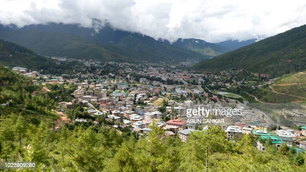 This photo taken on August 25 shows a general view of Bhutan's capital Thimphu.