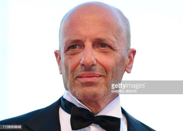 This photo taken on August 29 2012 shows Italian journalist Alessandro Sallusti arriving for the opening ceremony of the 69th Venice film festival at...