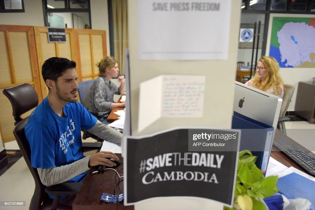 CAMBODIA-POLITICS-MEDIA : News Photo