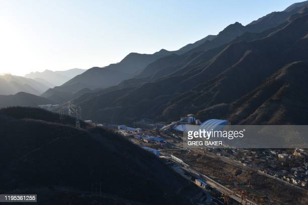 This photo taken on December 11 2019 shows the Datai coal mine in Mentougou west of Beijing