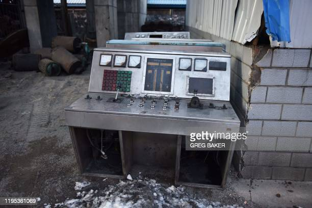 This photo taken on December 18 2019 shows a disused control panel at the Datai coal mine in Mentougou west of Beijing