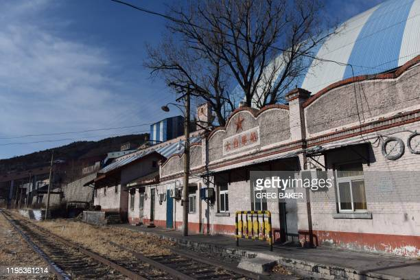 This photo taken on December 18 2019 shows the Datai railway station outside the Datai coal mine in Mentougou west of Beijing