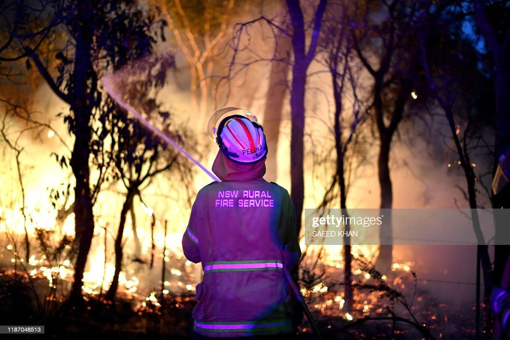 AUSTRALIA-WEATHER-BUSHFIRE : News Photo