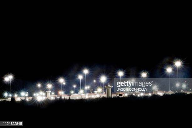 TOPSHOT This photo taken on February 13 2019 shows a view by night of the United States Penitentiary Administrative Maximum Facility also known as...