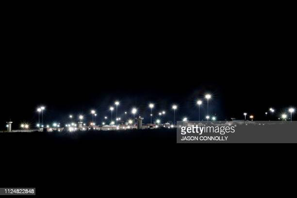 This photo taken on February 13 2019 shows a view by night of the United States Penitentiary Administrative Maximum Facility also known as the ADX or...