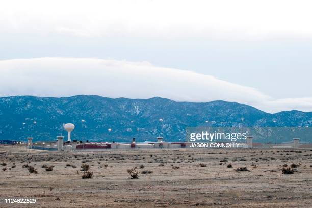 This photo taken on February 13 2019 shows a view of the United States Penitentiary Administrative Maximum Facility also known as the ADX or Supermax...