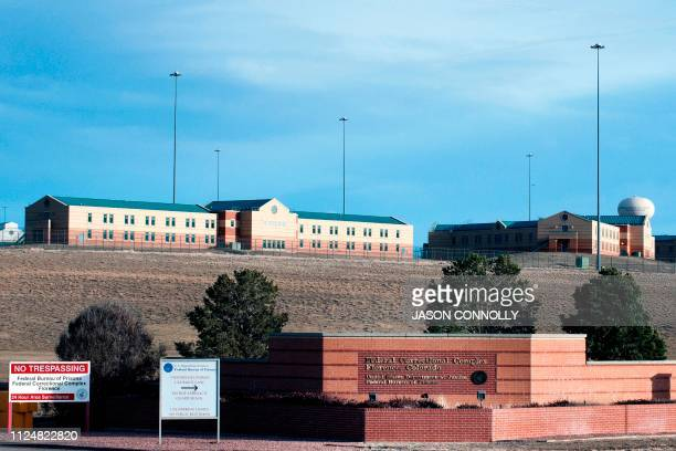 This photo taken on February 13 2019 shows an exterior view of the United States Penitentiary Administrative Maximum Facility also known as the ADX...