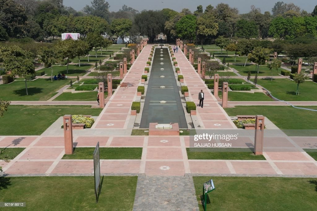 This photo taken on February 20, 2018 shows the renovated fountain area in Sunder Nursery, a 16th-century heritage garden complex adjacent to Indian UNESCO site Humayun's Tomb, in New Delhi. A once forgotten Mughal garden in the heart of New Delhi will reopen on February 21 after years of painstaking conservation work, creating a new public park in India's sprawling and smog-choked capital. The 90-acre (36-hectare) garden will be formally opened by the Aga Khan, whose Trust for Culture has helped recreate the classical garden and restore its crumbling 16th-century monuments. PHOTO / Sajjad HUSSAIN