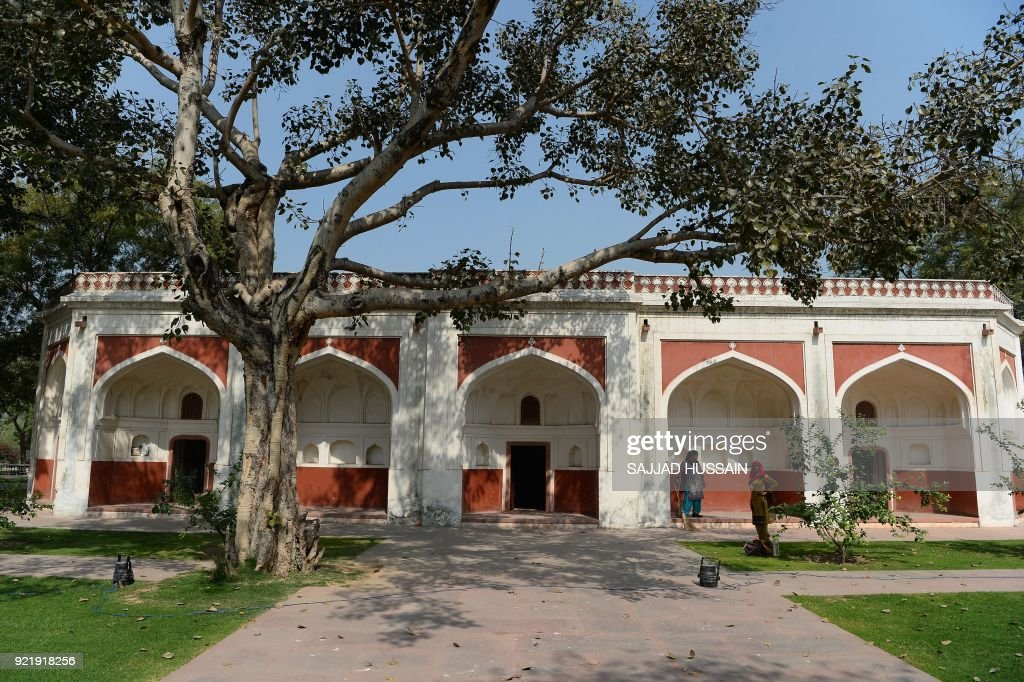 This photo taken on February 20, 2018 shows the renovated Sunderwala Mahal in Sunder Nursery, a 16th-century heritage garden complex adjacent to Indian UNESCO site Humayun's Tomb, in New Delhi. A once forgotten Mughal garden in the heart of New Delhi will reopen on February 21 after years of painstaking conservation work, creating a new public park in India's sprawling and smog-choked capital. The 90-acre (36-hectare) garden will be formally opened by the Aga Khan, whose Trust for Culture has helped recreate the classical garden and restore its crumbling 16th-century monuments. PHOTO / Sajjad HUSSAIN