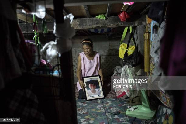 This photo taken on February 26 2018 shows Ruth Jaime the grandmother of Alexander A Jaime who died due to a blood infection months after his last...