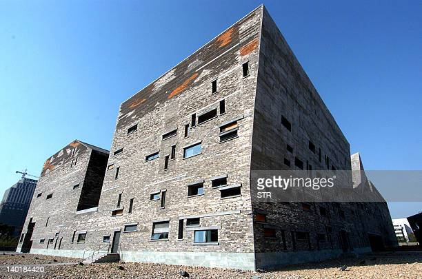 This photo taken on February 27 2012 shows a view of the Ningbo Museum designed by Chinese architect Wang Shu in Ningbo in east China's Zhejiang...