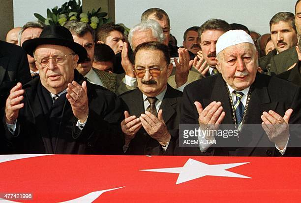 This photo taken on February 8 2002 in Ankara shows Turkey's former President Suleyman Demirel Turkey's former Prime minister Bulent Ecevit and...