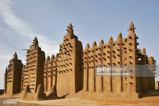 This photo taken on February 9 shows the Great Mosque of Djenne in the Niger Delta region in central Mali The first mosque in the complex was built...