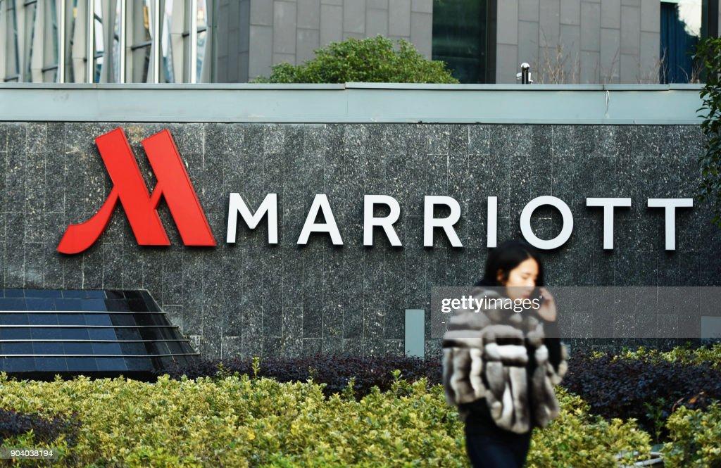 CHINA-US-POLITICS-INVESTIGATION-HOTELS-MARRIOTT : News Photo