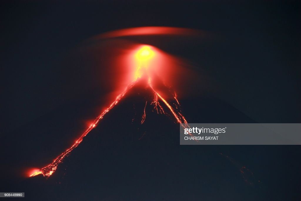 Philippines Mt. Mayon Volcano Threatens Eruption