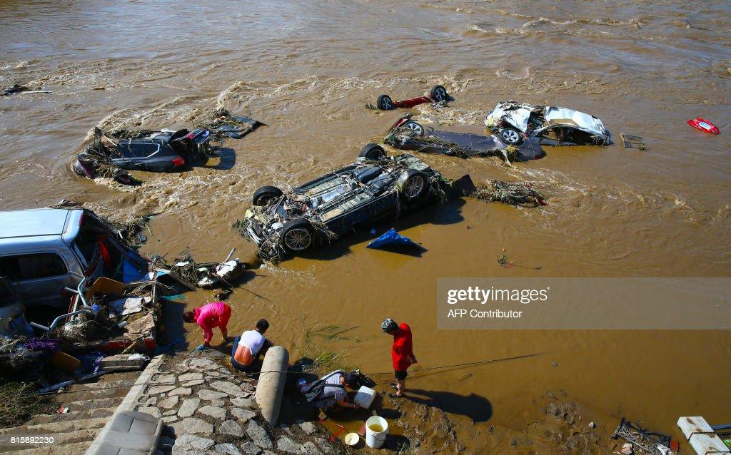 CHINA-FLOODS-WEATHER : News Photo