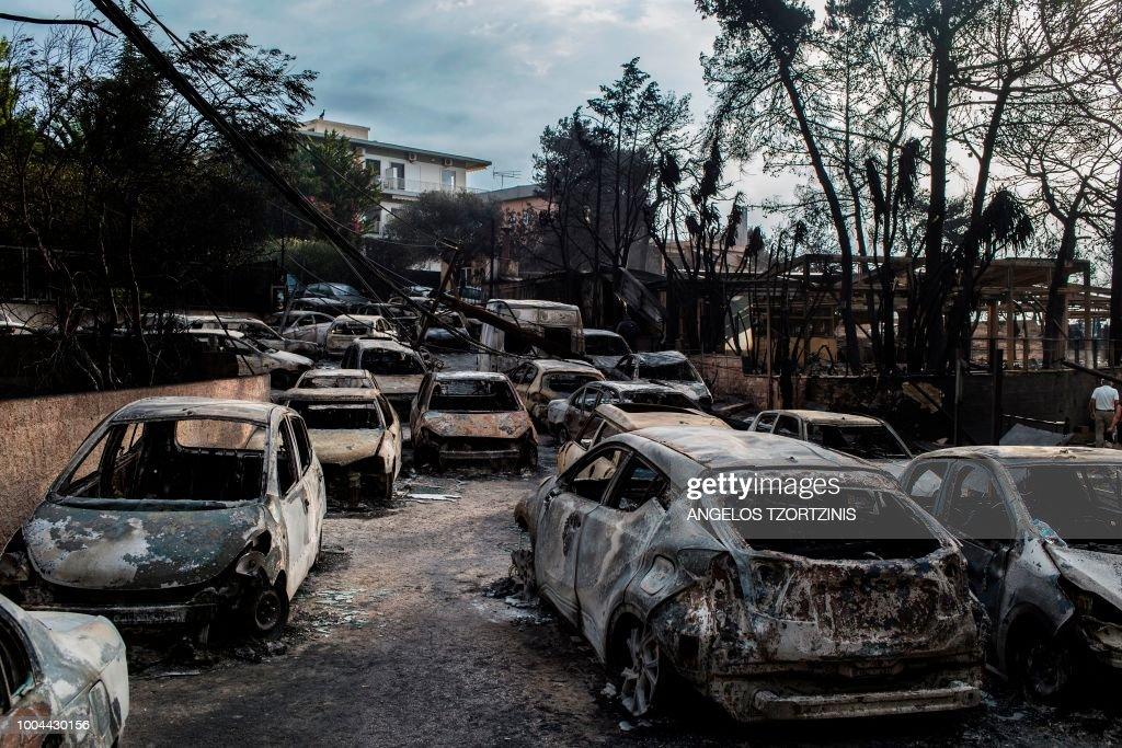 TOPSHOT-GREECE-FIRE : News Photo