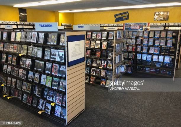 This photo taken on July 26, 2020 shows the interior of the last remaining Blockbuster store, in Bend, Oregon. - Is 2020 proving a bit too much? The...