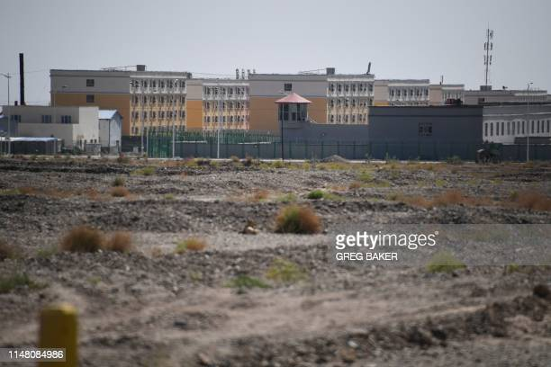This photo taken on June 2, 2019 shows a facility believed to be a re-education camp where mostly Muslim ethnic minorities are detained, in Artux,...