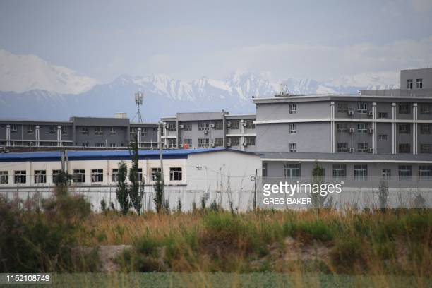 This photo taken on June 4 2019 shows a facility believed to be a reeducation camp where mostly Muslim ethnic minorities are detained north of Akto...