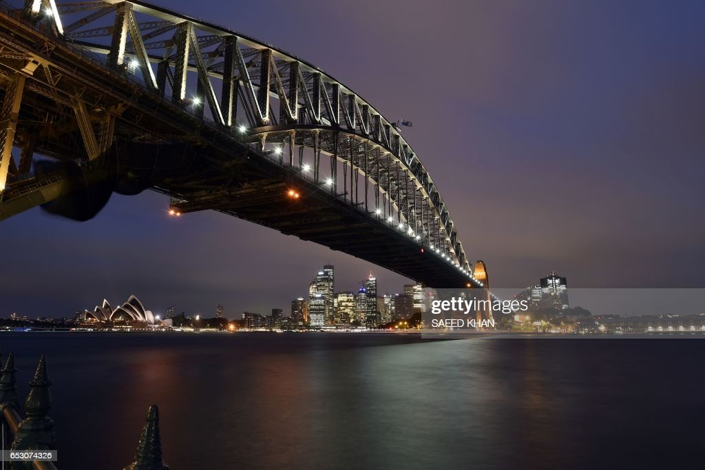 This photo taken on March 13, 2017 shows a view of Sydney harbour