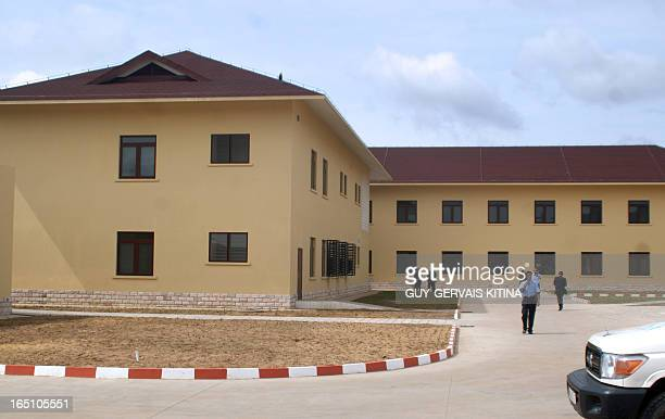 This photo taken on March 30 2013 in Mfilou a neighborhood west of Brazzaville a wing of the Chinesebuilt hospital which new Chinese president Xi...