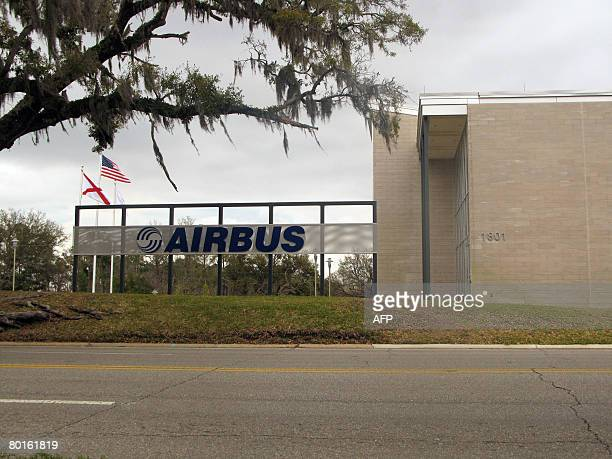 This photo taken on March 7,2008 shows an Airbus facility building in Mobile,Alabama. A battle over a US Air Force tanker contract heated up on March...