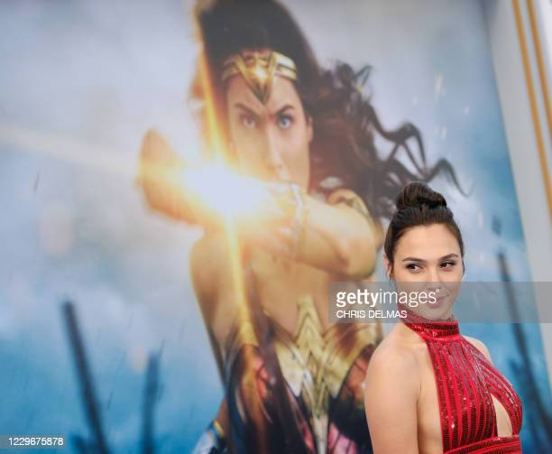 """This photo taken on May 25, 2017 shows actress Gal Gadot at the world premiere of """"Wonder Woman"""" at the Pantages in Hollywood, California. - The..."""