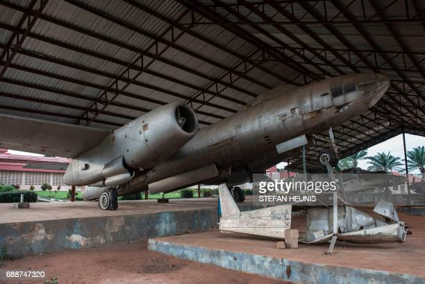 This photo taken on May 26 2017 shows old planes used during the Nigerian Civil War at the War Museum in Umuahia southeast Nigeria The Nigerian civil...