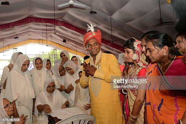 This photo taken on May 29 2015 shows millionaire Indian businessman Bhawarlal Doshi taking part in a ceremony in Ahmedabad at the start of three...