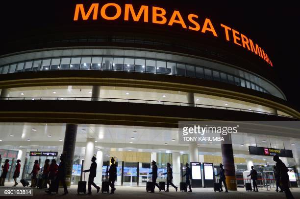 This photo taken on May 29, 2017 shows the new Mombasa passenger terminus. More than a century after a colonial railway gave birth to modern Kenya,...