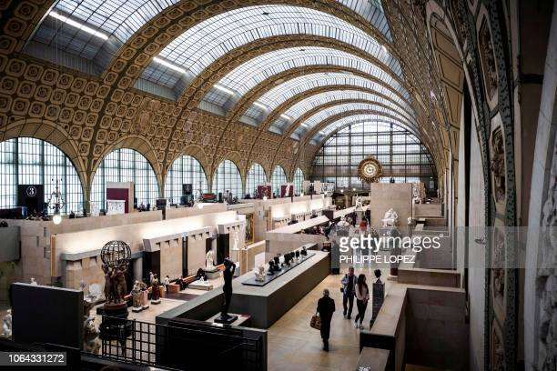 This photo taken on November 22, 2018 shows a general view of the Orsay Museum in Paris. - In 1977 the French Government decided to convert this...