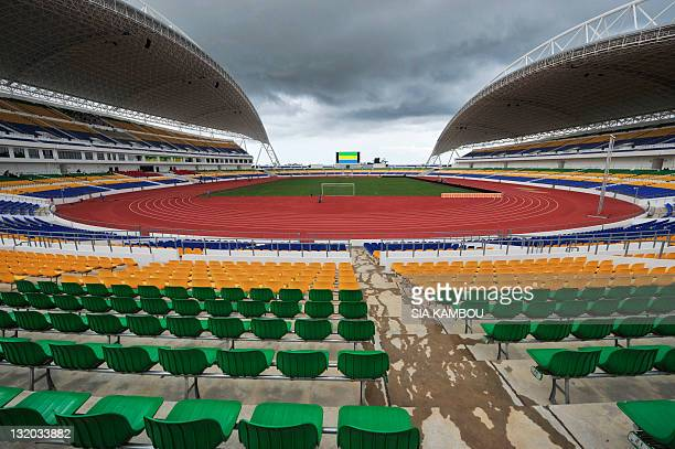 This photo taken on November 9 2011 shows a general view of the Stade de l'Amitie in Libreville on the eve of Gabon's friendly football match against...