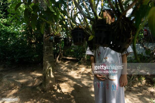 This photo taken on October 19 2018 shows a pregnant 12yearold rape victim taking refuge at the Myint Mo Myittar Single Mothers' Foundation in Yangon...