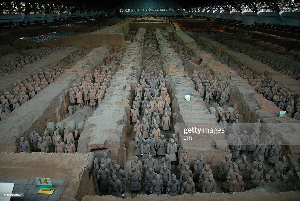 CHINA-ARCHAEOLOGY-HISTORY-CULTURE-POLITICS : News Photo