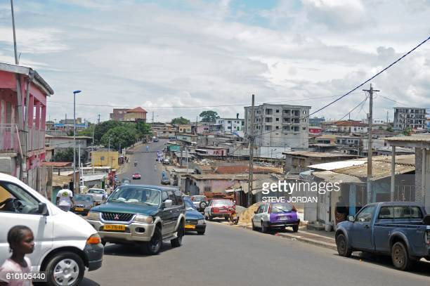 This photo taken on September 24 2016 shows a street in Libreville on the day following the Constitutional Court's decision to uphold President Ali...