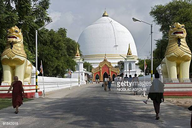 This photo taken on September 29 2009 shows a general view of the Kaung Mu Taw pagoda in Sagaing on the outskirts of Mandalay AFP PHOTO/ NICOLAS...