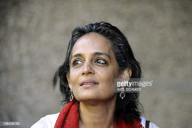 This photo taken on September 8 2009 shows Indian booker prizewinning author and antiglobalisation activist Arundhati Roy ahead of the 'International...
