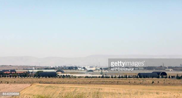 This photo taken on September 8 2017 in Konya shows an air base / AFP PHOTO / ADEM ALTAN