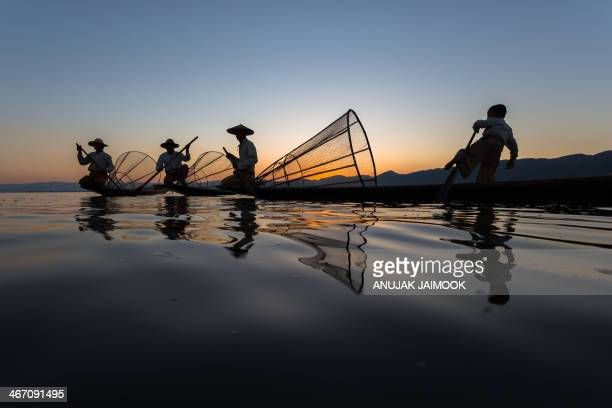 This photo was shot at sunset time at Inle Lake. Inle Lake is a freshwater lake located in the Nyaungshwe Township of Taunggyi District of Shan...