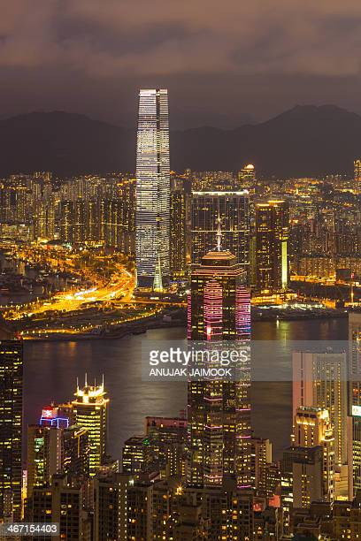 CONTENT] This photo was shot from the peak viewpoint The building light up the light at twilight time The Peak Hong Kong's most popular attraction is...