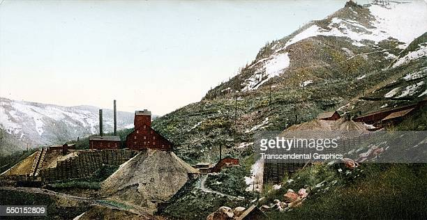 This photochrome from the Detroit Publishing Company depicts a silver mine complex on the mountains Aspen Colorado 1900