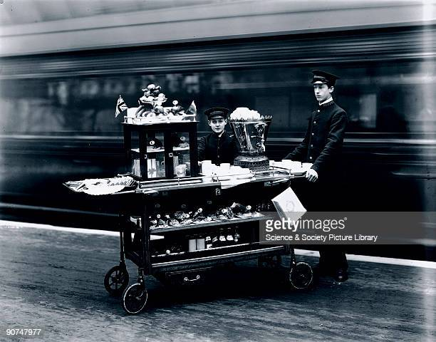 This photograph is one of a sequence taken to illustrate the refreshment services which the Great Western Railway provided for its passengers at...