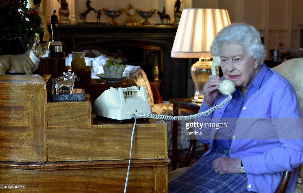 Boris Johnson Conducts Weekly Audience With Queen By Phone : News Photo