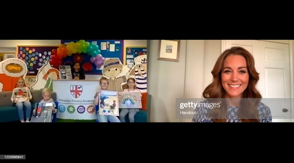 The Duchess Of Cambridge Leads An Online Assembly For The Oak National Academy : News Photo